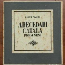 Libros antiguos: NOGUÉS, XAVIER. ABECEDARI CATALÀ PER A NENS. 1920. POMPEU FABRA. SALVAT PAPASSEIT.. Lote 103943083