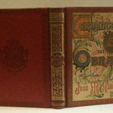 Libros antiguos: CERVANTES Y SUS OBRAS. ARTICULOS POR D. JOSE. M. ASENSIO. PROLOGO DEL DR. THEBUSSEM.. Lote 103947407