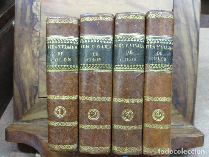 HISTORIA DE LA VIDA Y VIAJES DE CRISTÓBAL COLON.WASHINGTON IRVING.1833-1834.PRIMERA EDICIÓN ESPAÑOLA (Libros Antiguos, Raros y Curiosos - Historia - Otros)
