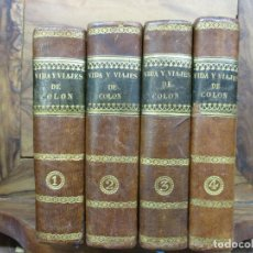 Libros antiguos: HISTORIA DE LA VIDA Y VIAJES DE CRISTÓBAL COLON.WASHINGTON IRVING.1833-1834.PRIMERA EDICIÓN ESPAÑOLA. Lote 141226940