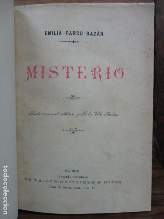 MISTERIO. EMILIA PARDO BAZAN. 1903 (Libros antiguos (hasta 1936), raros y curiosos - Literatura - Narrativa - Otros)