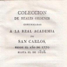 Libros antiguos: VARIOS. ESTATUTOS DE LA REAL ACADEMIA DE SAN CARLOS. VALENCIA, BENITO MONFORT, 1828. . Lote 104071511