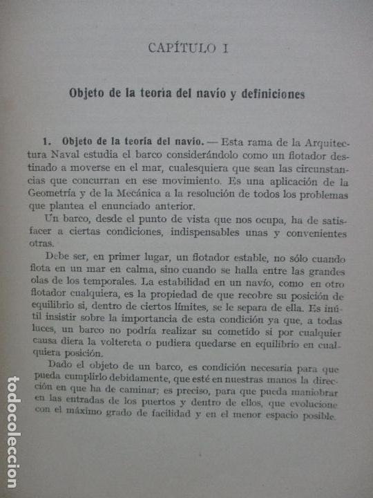 Libros antiguos: ARQUITECTURA NAVAL. Primera parte. TEORÍA DEL NAVÍO. EMIGDIO IGLESIAS. 2 VOLS. 1921. - Foto 3 - 104071567