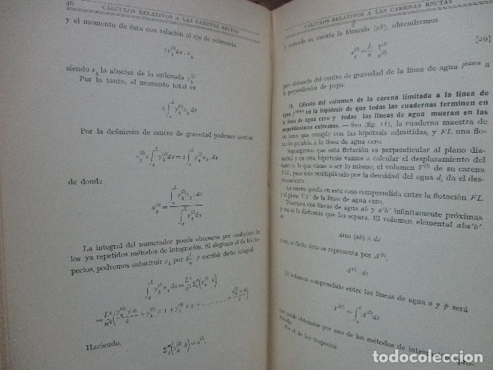 Libros antiguos: ARQUITECTURA NAVAL. Primera parte. TEORÍA DEL NAVÍO. EMIGDIO IGLESIAS. 2 VOLS. 1921. - Foto 5 - 104071567
