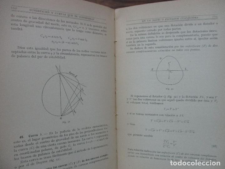 Libros antiguos: ARQUITECTURA NAVAL. Primera parte. TEORÍA DEL NAVÍO. EMIGDIO IGLESIAS. 2 VOLS. 1921. - Foto 6 - 104071567