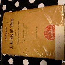Libros antiguos: TRATADO ENOLOGIA: ANALISIS DE VINOS SOCIEDAD ENOLOGICA PENADES, AÑOS 20 FICHAS . Lote 104111991