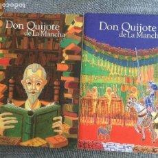 Libros antiguos: EL INGENIOSO HIDALGO DON QUIJOTE DE LA MANCHA. MIGUEL DE CERVANTES. TOMOS I Y II. O. C.. Lote 104176995