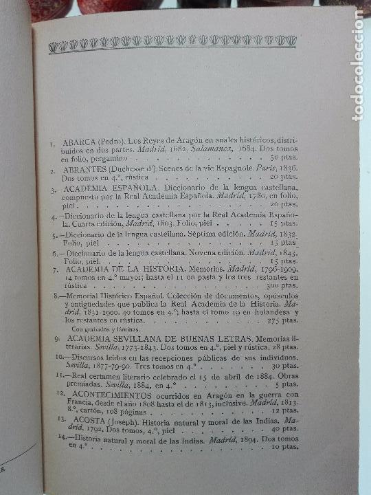 Libros antiguos: CATÁLOGO ILUSTRADO DE LA LIBRERÍA DE PEDRO VINDEL - LIBROS RAROS, CURIOSOS Y ANTIGUOS - 1927 - - Foto 3 - 104179279