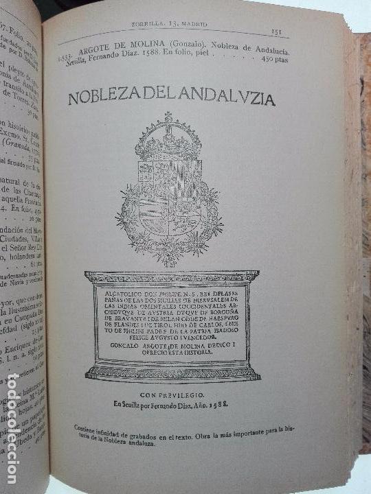 Libros antiguos: CATÁLOGO ILUSTRADO DE LA LIBRERÍA DE PEDRO VINDEL - LIBROS RAROS, CURIOSOS Y ANTIGUOS - 1927 - - Foto 8 - 104179279