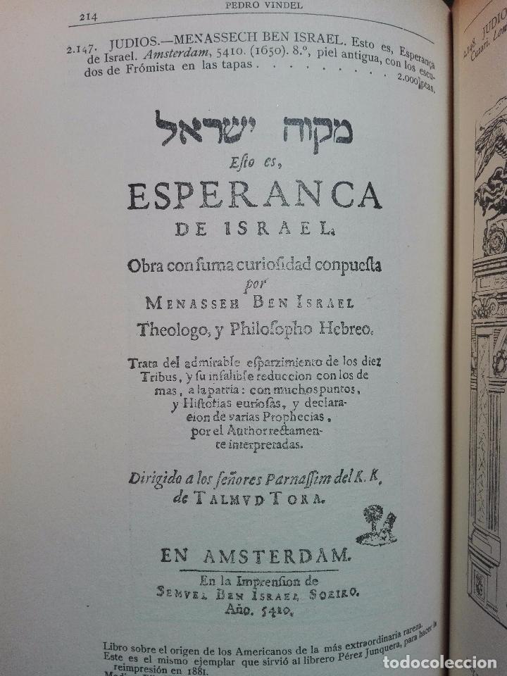 Libros antiguos: CATÁLOGO ILUSTRADO DE LA LIBRERÍA DE PEDRO VINDEL - LIBROS RAROS, CURIOSOS Y ANTIGUOS - 1927 - - Foto 9 - 104179279