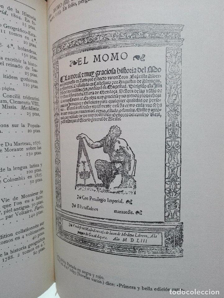 Libros antiguos: CATÁLOGO ILUSTRADO DE LA LIBRERÍA DE PEDRO VINDEL - LIBROS RAROS, CURIOSOS Y ANTIGUOS - 1927 - - Foto 10 - 104179279