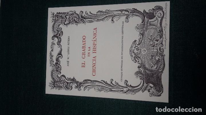 Libros antiguos: EL GRABADO EN LA CIENCIA HISPÁNICA, J.M. LÓPEZ PIÑERO, SIN ABRIR. - Foto 4 - 104301087