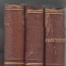 Libros antiguos: LOTE TRES LIBROS BIBLIOTECA UNIVERSAL DEMÓSTENES Y ESQUINES POETAS GRIEGOS PROUDHON 1873. Lote 104303171
