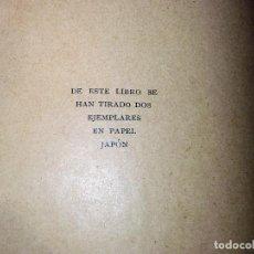 Libros antiguos: EDUARDO MARQUINA. ELEGÍAS. TOBELLA&COSTA. 1905. 1ª ED. TIRADA DE 2 EJEMPLARES. BIBLIOTECA G. SANCHIZ. Lote 104426099