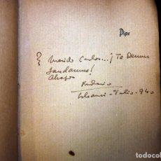 Libros antiguos: FEDERICO GARCÍA SANCHÍZ. LOTE DE 4 LIBROS 1ª EDICIÓN. DEDICATORIAS. 1906-42. Lote 104426415