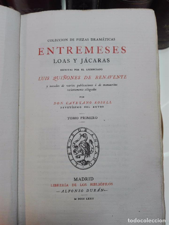 Libros antiguos: LIBROS DE ANTAÑO - COLECCIÓN DE PIEZAS DRAMÁTICAS - ENTREMESES - LOAS Y JÁCARAS - LUIS DE QUIÑONES D - Foto 4 - 104438975