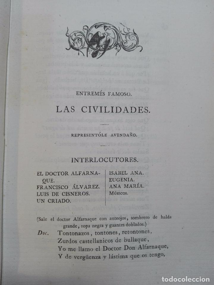 Libros antiguos: LIBROS DE ANTAÑO - COLECCIÓN DE PIEZAS DRAMÁTICAS - ENTREMESES - LOAS Y JÁCARAS - LUIS DE QUIÑONES D - Foto 5 - 104438975