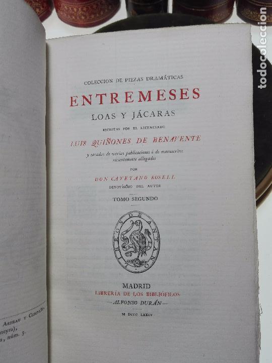 Libros antiguos: LIBROS DE ANTAÑO - COLECCIÓN DE PIEZAS DRAMÁTICAS - ENTREMESES - LOAS Y JÁCARAS - LUIS DE QUIÑONES D - Foto 10 - 104438975