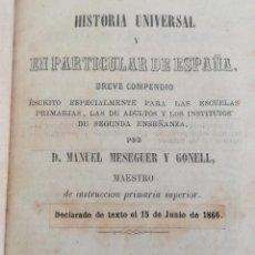Libros antiguos: HISTORIA UNIVERSAL Y EN PARTICULAR DE ESPAÑA (1865) - MANUEL MESEGUER Y GONELL. Lote 104527495