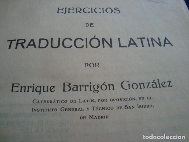 Libros antiguos: EJERCICIOS DE TRADUCCIÓN LATIANA PRIMERA PARTE POR ENRIQUE BARRIGÓN GONZÁLEZ 1932 - Foto 5 - 104528871