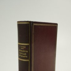 Libros antiguos: ZOOLOGIA POPULAR CATALANA, 1910, CELS GOMIS, CEC, L'AVENÇ. 12X16,5CM. Lote 104586803