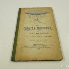Alte Bücher - la ciencia moderna, celso gomis, 1900, barcelona. 11,5x18cm - 104672695