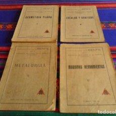 Libros antiguos: PUBLICACIONES RENFE MÁQUINAS HERRAMIENTAS, ESCALAS Y GRÁFICOS, METALURGIA Y GEOMETRÍA PLANA. AÑOS 50. Lote 104686883