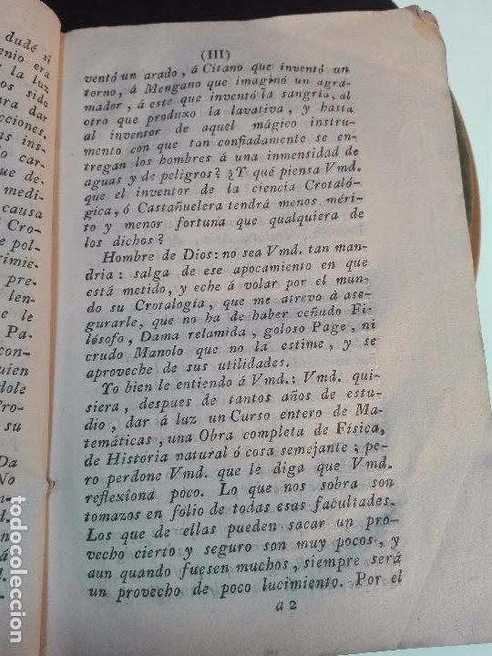 Libros antiguos: CROTALOGÍA O CIENCIA DE LAS CASTAÑUELAS - FRANCISCO AGUSTÍN FLORENCIO - IMPRENTA REAL - MADRID -1792 - Foto 4 - 105065935
