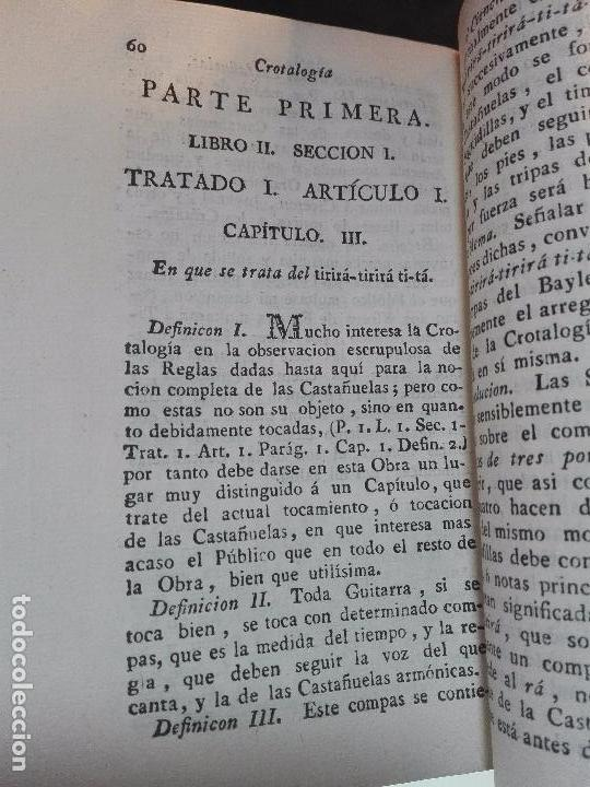 Libros antiguos: CROTALOGÍA O CIENCIA DE LAS CASTAÑUELAS - FRANCISCO AGUSTÍN FLORENCIO - IMPRENTA REAL - MADRID -1792 - Foto 5 - 105065935