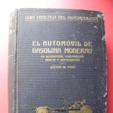 Libros antiguos: 2 ANTIGUOS LIBROS COCHES ANTIGUOS. MECÁNICA, MANEJO Y CONSERVACIÓN. AÑOS 1921 Y 1926 (LL00001). Lote 105072387