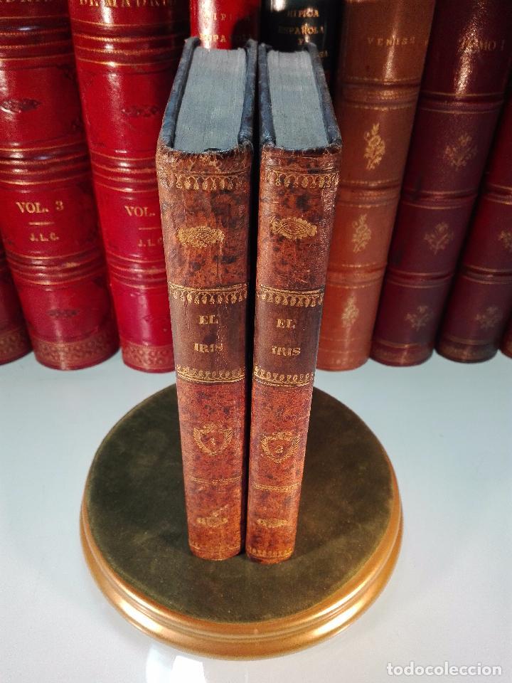 EL IRIS - SEMANARIO ENCILOPÉDICO - 2 TOMOS - FEBRERO Y DE JULIO A NOVIEMBRE DE 1841 - MADRID - (Libros Antiguos, Raros y Curiosos - Historia - Otros)