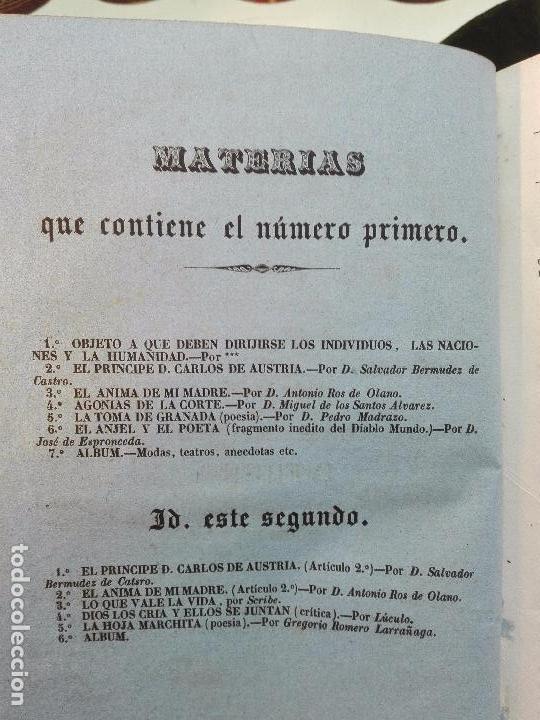 Libros antiguos: EL IRIS - SEMANARIO ENCILOPÉDICO - 2 TOMOS - FEBRERO Y DE JULIO A NOVIEMBRE DE 1841 - MADRID - - Foto 4 - 105259099