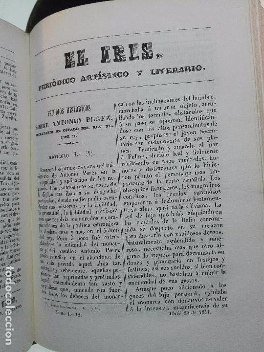 Libros antiguos: EL IRIS - SEMANARIO ENCILOPÉDICO - 2 TOMOS - FEBRERO Y DE JULIO A NOVIEMBRE DE 1841 - MADRID - - Foto 6 - 105259099
