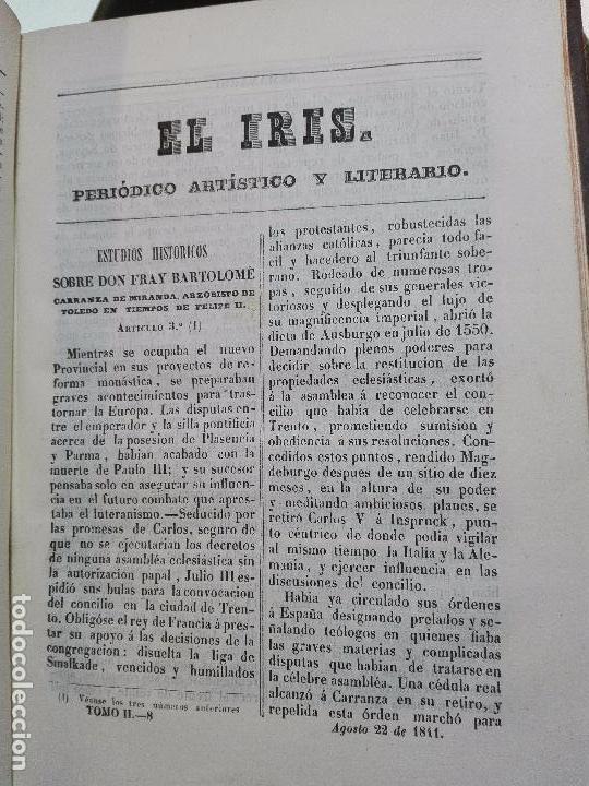 Libros antiguos: EL IRIS - SEMANARIO ENCILOPÉDICO - 2 TOMOS - FEBRERO Y DE JULIO A NOVIEMBRE DE 1841 - MADRID - - Foto 16 - 105259099