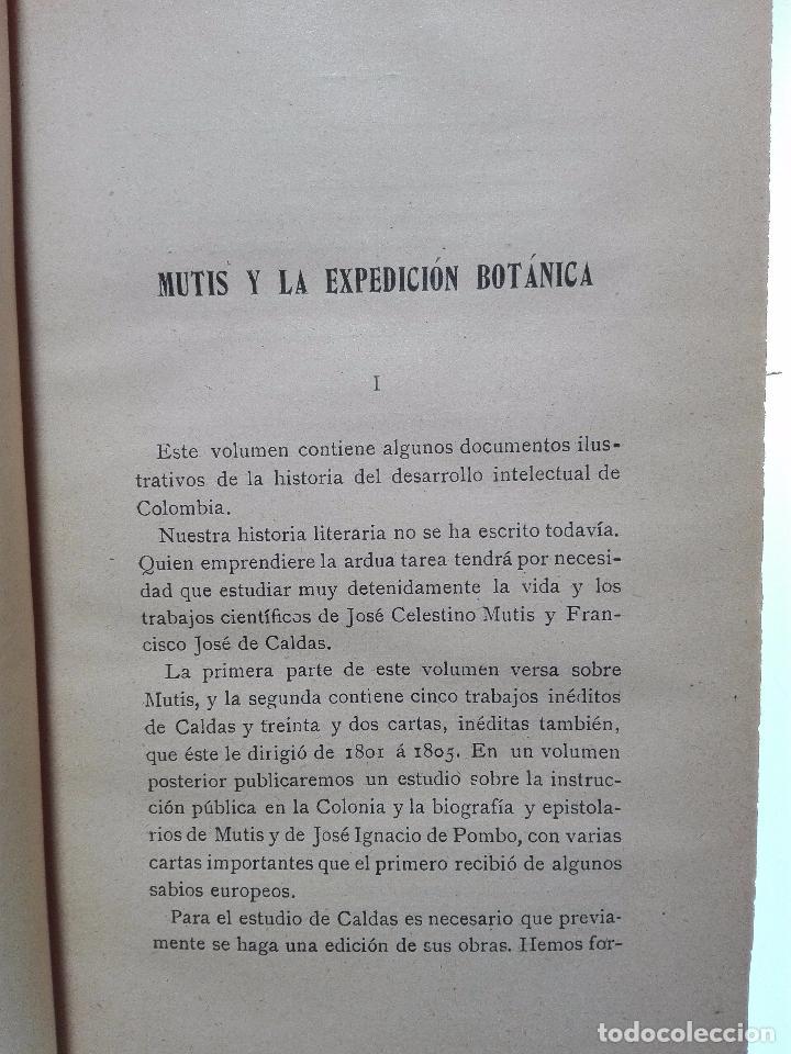 Libros antiguos: ÚNICO A LA VENTA - EXPEDICIÓN BOTÁNICA DE JOSÉ CELESTINO MUTIS AL NUEVO REINO DE GRANADA - 1909 - - Foto 7 - 105262115