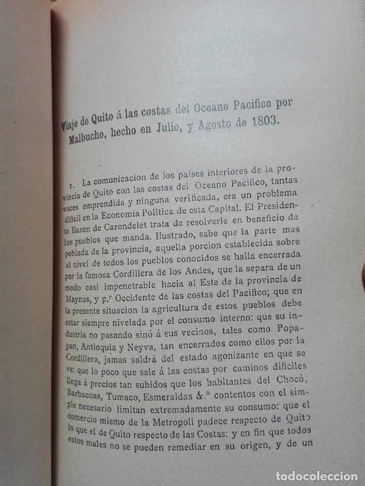 Libros antiguos: ÚNICO A LA VENTA - EXPEDICIÓN BOTÁNICA DE JOSÉ CELESTINO MUTIS AL NUEVO REINO DE GRANADA - 1909 - - Foto 8 - 105262115