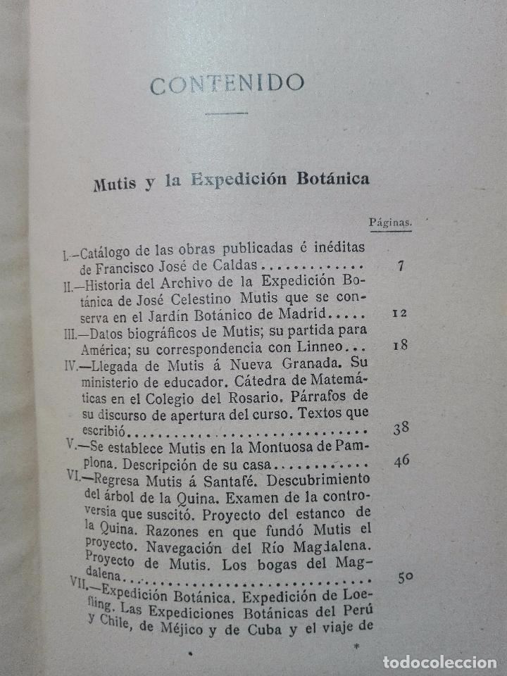 Libros antiguos: ÚNICO A LA VENTA - EXPEDICIÓN BOTÁNICA DE JOSÉ CELESTINO MUTIS AL NUEVO REINO DE GRANADA - 1909 - - Foto 10 - 105262115