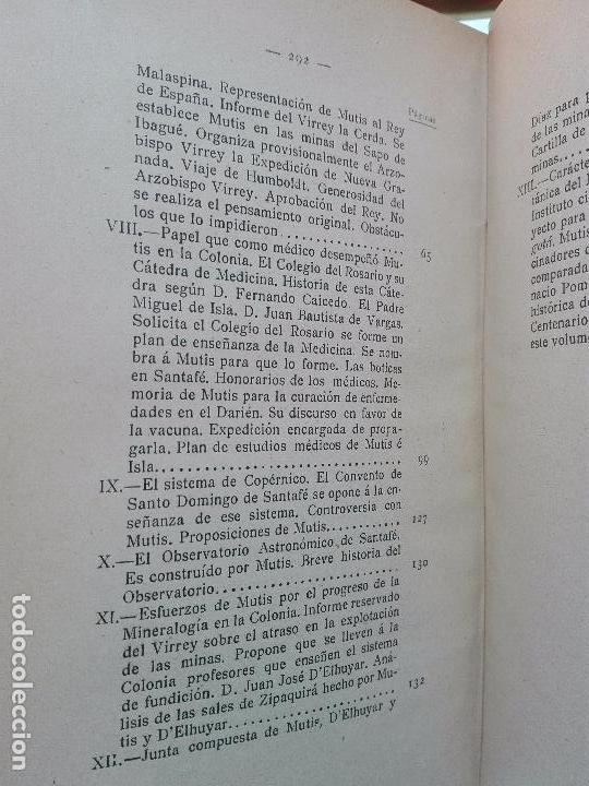 Libros antiguos: ÚNICO A LA VENTA - EXPEDICIÓN BOTÁNICA DE JOSÉ CELESTINO MUTIS AL NUEVO REINO DE GRANADA - 1909 - - Foto 11 - 105262115