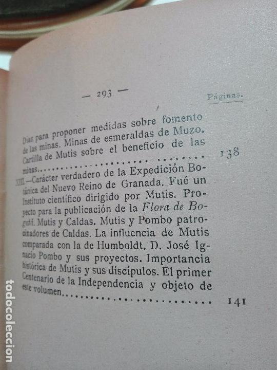 Libros antiguos: ÚNICO A LA VENTA - EXPEDICIÓN BOTÁNICA DE JOSÉ CELESTINO MUTIS AL NUEVO REINO DE GRANADA - 1909 - - Foto 12 - 105262115