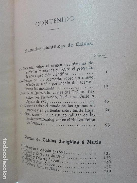 Libros antiguos: ÚNICO A LA VENTA - EXPEDICIÓN BOTÁNICA DE JOSÉ CELESTINO MUTIS AL NUEVO REINO DE GRANADA - 1909 - - Foto 13 - 105262115