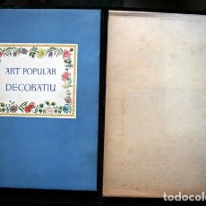 Libros antiguos: ART POPULAR DECORATIU A CATALUNYA - VIOLANT I SIMORRA, R. .- 1948 - IL.LUSTRAT. Lote 105482591