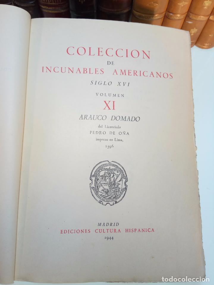 Libros antiguos: ARAUCO DOMADO POR EL LICENCIADO PEDRO DE OÑA - COL. INCUNABLES AMERICANOS - VOLUMEN XI - 1944 - - Foto 2 - 105606703