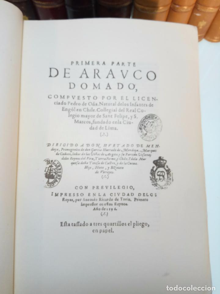 Libros antiguos: ARAUCO DOMADO POR EL LICENCIADO PEDRO DE OÑA - COL. INCUNABLES AMERICANOS - VOLUMEN XI - 1944 - - Foto 5 - 105606703