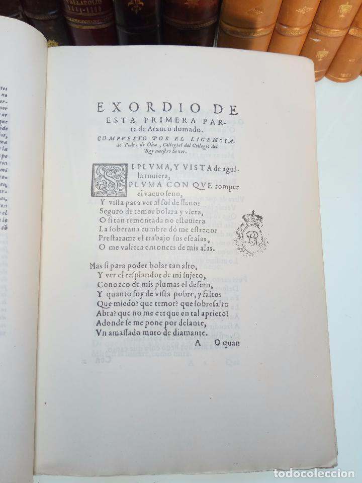 Libros antiguos: ARAUCO DOMADO POR EL LICENCIADO PEDRO DE OÑA - COL. INCUNABLES AMERICANOS - VOLUMEN XI - 1944 - - Foto 6 - 105606703