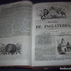 Libros antiguos: HISTORIA DE INGLATERRA. OLIVERIO GOLDSMITH. IMPRENTA DEL SEMINARIO PINTORESCO. 1855.. Lote 105771195
