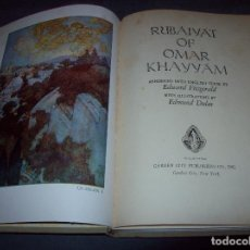 Libros antiguos: RUBAIYAT OF OMAR KHAYYÁM. EDWARD FITZGERALD. ILUSTRADO POR EDMUND DULAC.MARAVILLOSA ENCUADERNACIÓN.. Lote 105787927