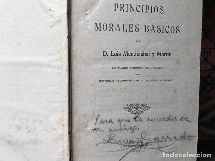 PRINCIPIOS MORALES BÁSICOS (Libros Antiguos, Raros y Curiosos - Pensamiento - Otros)
