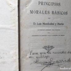 Libros antiguos: PRINCIPIOS MORALES BÁSICOS. Lote 105790191