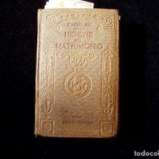 Libros antiguos: LIBRO DEL MATRIMONIO MUY CURIOSO PPIOS. S. XX. Lote 105800671