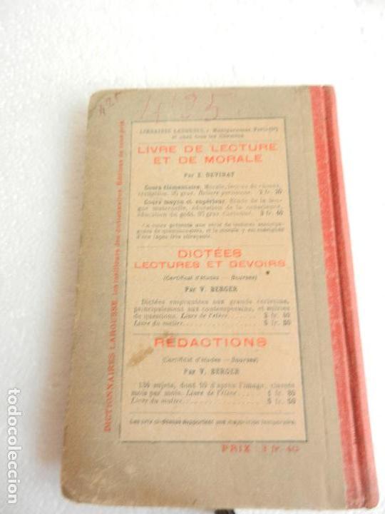 Libros antiguos: GRAMMAIRE COURS MOYEN PAR CLAUDE AUGE LIBRAIRIE LAROUSSE PARIS. - Foto 3 - 134860353